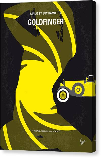 Cia Canvas Print - No277-007 My Goldfinger Minimal Movie Poster by Chungkong Art