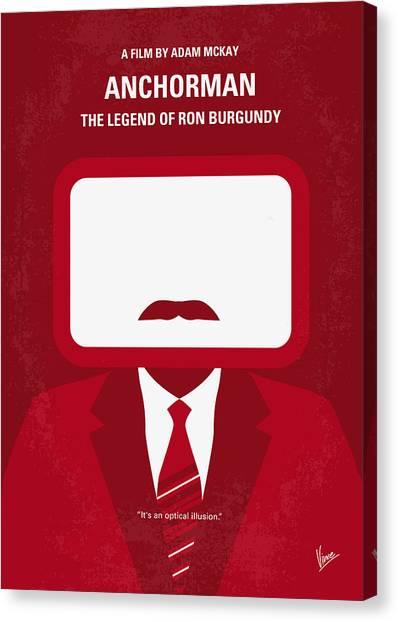 Legend Canvas Print - No278 My Anchorman Ron Burgundy Minimal Movie Poster by Chungkong Art