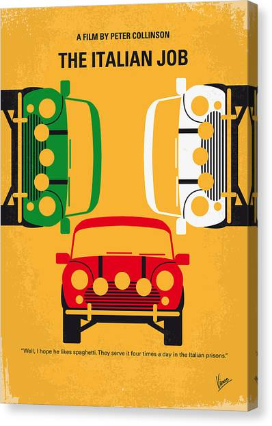 No279 My The Italian Job Minimal Movie Poster Canvas Print