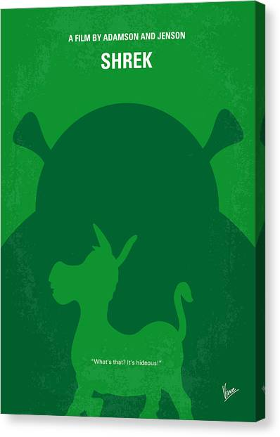 Donkeys Canvas Print - No280 My Shrek Minimal Movie Poster by Chungkong Art