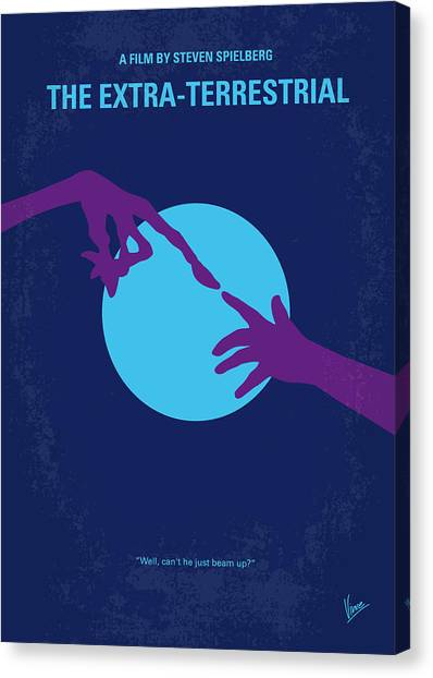 Aliens Canvas Print - No282 My Et Minimal Movie Poster by Chungkong Art
