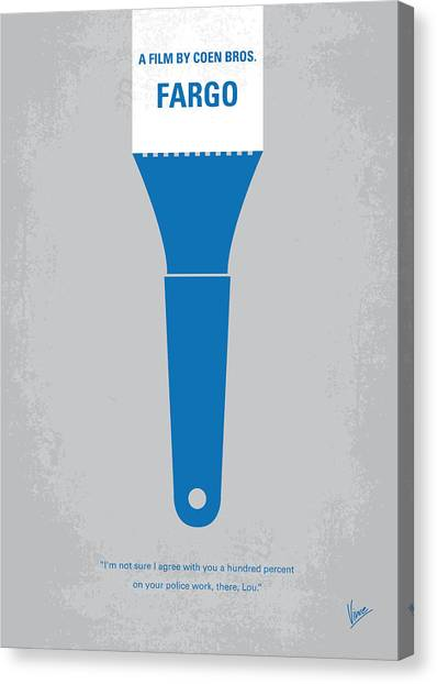 Money Canvas Print - No283 My Fargo Minimal Movie Poster by Chungkong Art