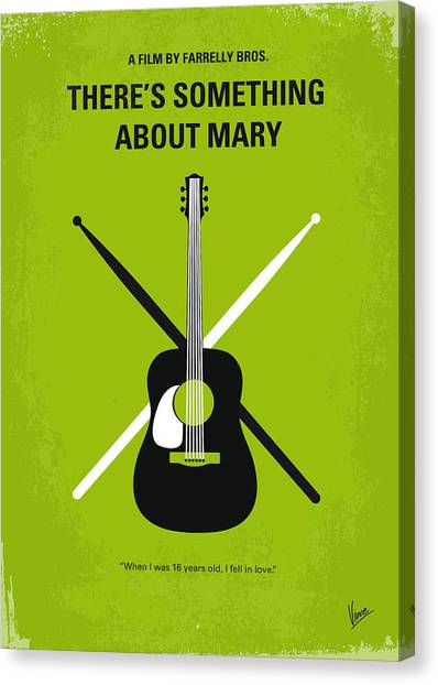Design Canvas Print - No286 My There's Something About Mary Minimal Movie Poster by Chungkong Art