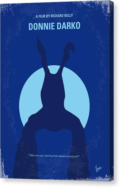 Rabbit Canvas Print - No295 My Donnie Darko Minimal Movie Poster by Chungkong Art