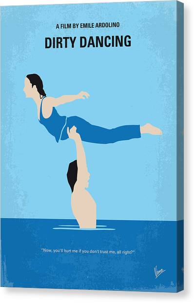 Dance Canvas Print - No298 My Dirty Dancing Minimal Movie Poster by Chungkong Art