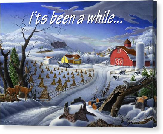 no3 Its been a while Canvas Print by Walt Curlee