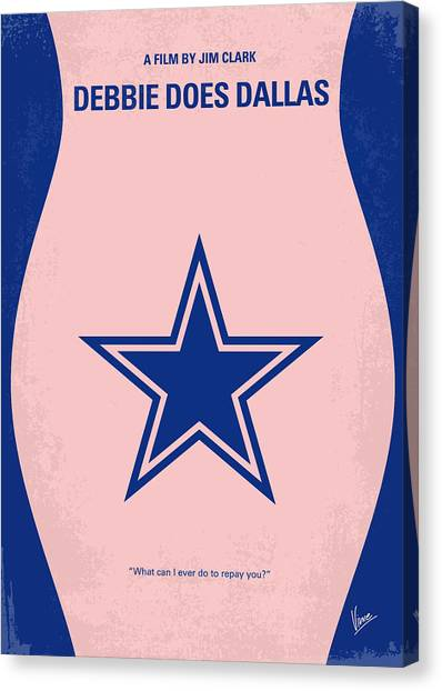 Dallas Cowboys Cheerleaders Canvas Print - No302 My Debbie Does Dallas Minimal Movie Poster by Chungkong Art