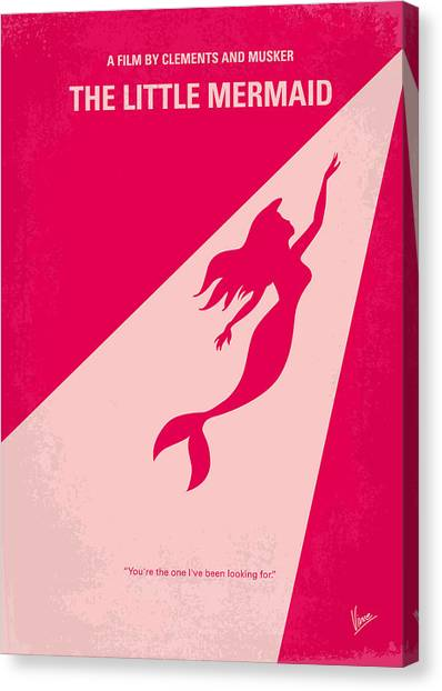 Little Canvas Print - No314 My Mermaid Minimal Movie Poster by Chungkong Art