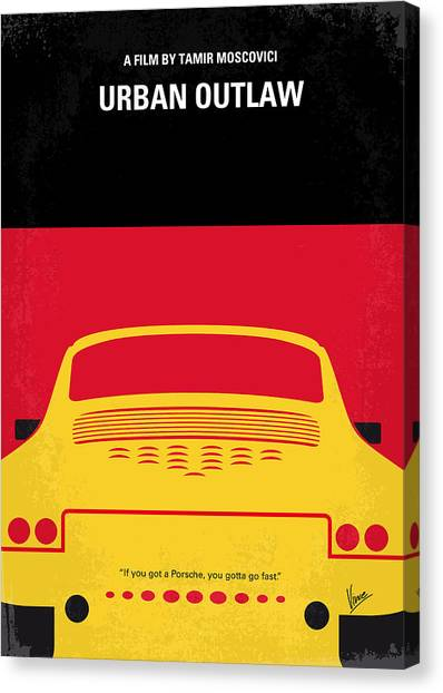 Los Angeles Canvas Print - No316 My Urban Outlaw Minimal Movie Poster by Chungkong Art