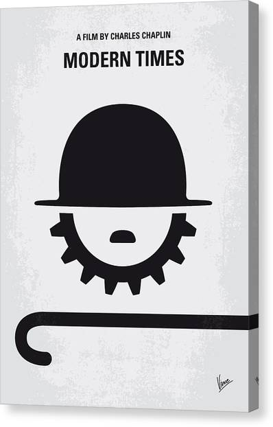 Industrial Canvas Print - No325 My Modern Times Minimal Movie Poster by Chungkong Art