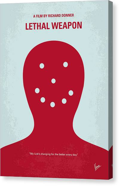 Police Canvas Print - No327 My Lethal Weapon Minimal Movie Poster by Chungkong Art