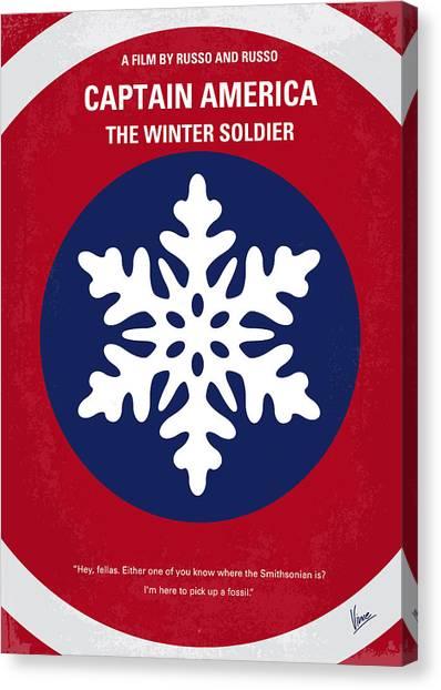 Winter Canvas Print - No329 My Captain America - 2 Minimal Movie Poster by Chungkong Art