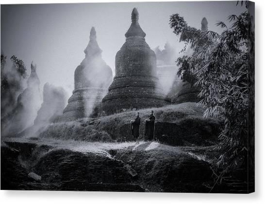 Temples Canvas Print - No.33 by Adirek M