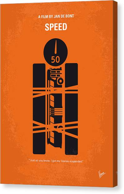 Keanu Reeves Canvas Print - No330 My Speed Minimal Movie Poster by Chungkong Art