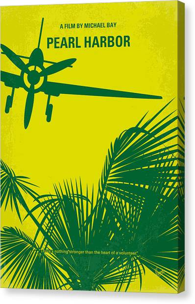 Pearl Canvas Print - No335 My Pearl Harbor Minimal Movie Poster by Chungkong Art