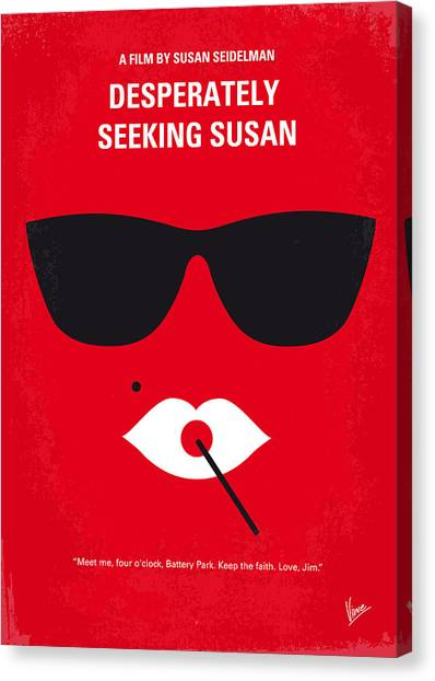 Susan Canvas Print - No336 My Desperately Seeking Susan Minimal Movie Poster by Chungkong Art
