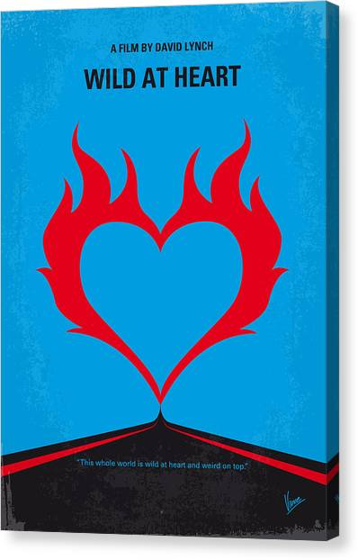 Hearts Canvas Print - No337 My Wild At Heart Minimal Movie Poster by Chungkong Art