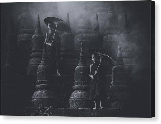 Temples Canvas Print - No.34 by Adirek M