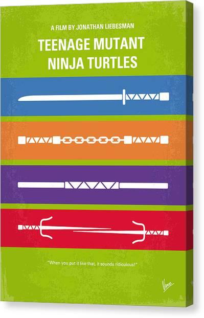 Feet Canvas Print - No346 My Teenage Mutant Ninja Turtles Minimal Movie Poster by Chungkong Art