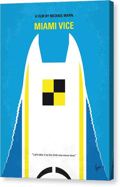 Law Enforcement Canvas Print - No351 My Miami Vice Minimal Movie Poster by Chungkong Art
