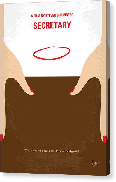 Law Canvas Print - No371 My Secretary Minimal Movie Poster by Chungkong Art