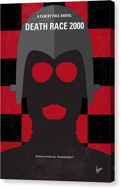 Stallone Canvas Print - No367 My Death Race 2000 Minimal Movie Poster by Chungkong Art