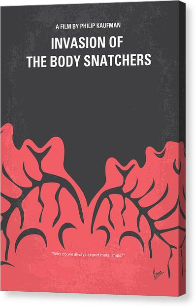 Body Canvas Print - No374 My Invasion Of The Body Snatchers Minimal Movie by Chungkong Art