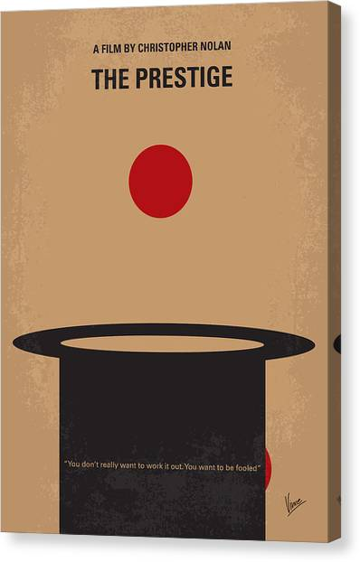 Magician Canvas Print - No381 My The Prestige Minimal Movie Poster by Chungkong Art