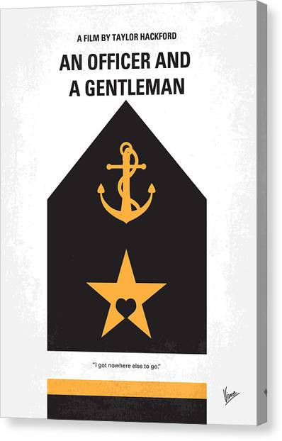 Aviators Canvas Print - No388 My An Officer And A Gentleman Minimal Movie Poster by Chungkong Art