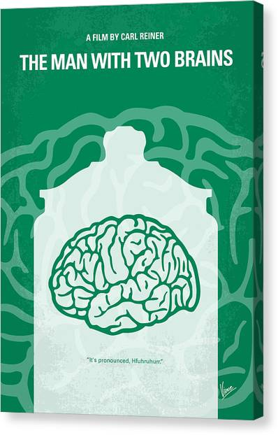 Brains Canvas Print - No390 My The Man With Two Brains Minimal Movie Poster by Chungkong Art