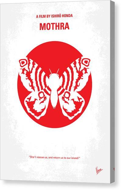 Monsters Canvas Print - No391 My Mothra Minimal Movie Poster by Chungkong Art