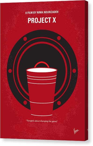 High School Canvas Print - No393 My Project X Minimal Movie Poster by Chungkong Art