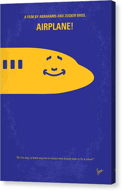 Airplane Canvas Print - No392 My Airplane Minimal Movie Poster by Chungkong Art