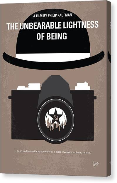 Tanks Canvas Print - No401 My The Unbearable Lightness Of Being Minimal Movie Poster by Chungkong Art