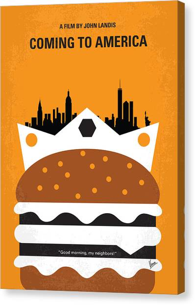 Prince Canvas Print - No402 My Coming To America Minimal Movie Poster by Chungkong Art
