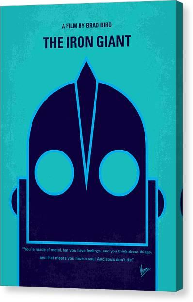 Aliens Canvas Print - No406 My The Iron Giant Minimal Movie Poster by Chungkong Art