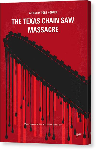 Saws Canvas Print - No410 My The Texas Chain Saw Massacre Minimal Movie Poster by Chungkong Art