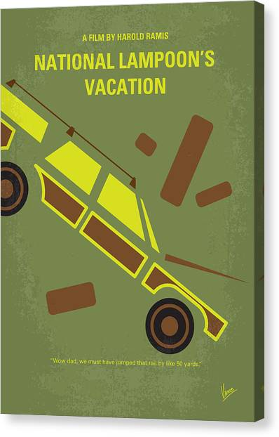 Design Canvas Print - No412 My National Lampoons Vacation Minimal Movie Poster by Chungkong Art