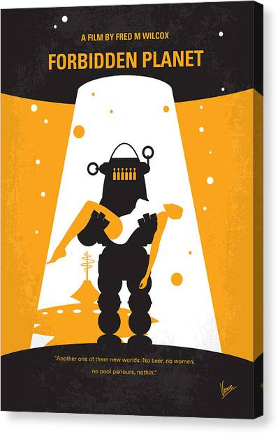 Mission Canvas Print - No415 My Forbidden Planet Minimal Movie Poster by Chungkong Art
