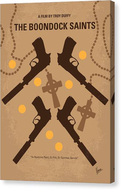 Saints Canvas Print - No419 My Boondock Saints Minimal Movie Poster by Chungkong Art