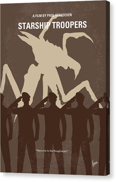 Citizen Canvas Print - No424 My Starship Troopers Minimal Movie Poster by Chungkong Art