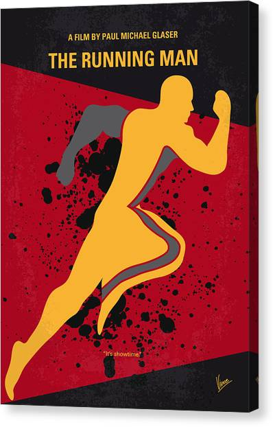 Running Backs Canvas Print - No425 My Running Man Minimal Movie Poster by Chungkong Art