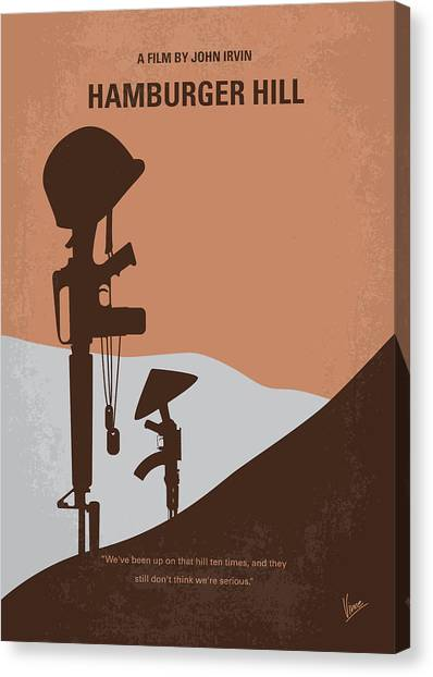 Vietnam War Canvas Print - No428 My Hamburger Hill Minimal Movie Poster by Chungkong Art