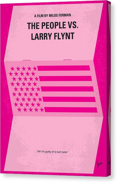 Althea Canvas Print - No395 My The People Vs Larry Flint Minimal Movie Poster by Chungkong Art