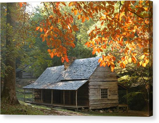 Noah Bud Ogle Farm Autumn Sunshine Canvas Print by John Saunders