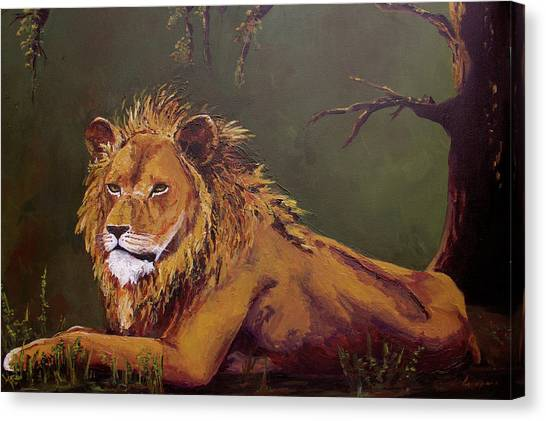 Noble Guardian - Lion Canvas Print