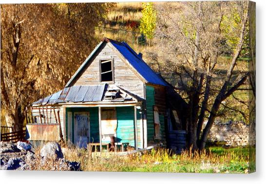 Brown Ranch Trail Canvas Print - Nobody's Home by Jackie Carpenter