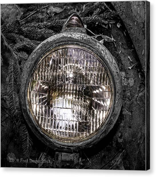 Nobody's Truck Headlight Canvas Print
