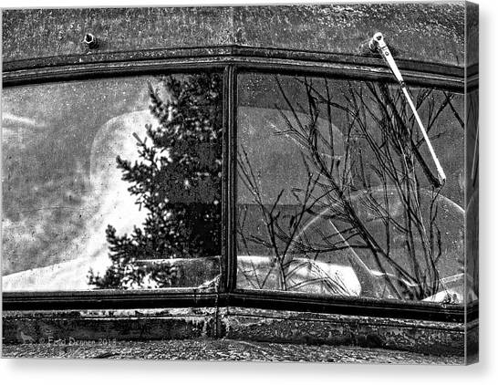 Nobody's Truck Windshield Canvas Print