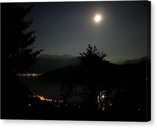 Nocturne In Switzerland Canvas Print